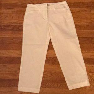 Loft White Crop Pant